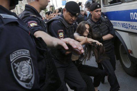 Russian police arrest over 1,000 in Moscow election protest