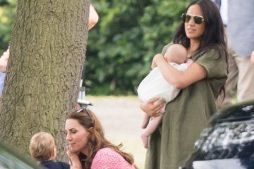 Meghan brings baby Archie to watch Harry and William play polo