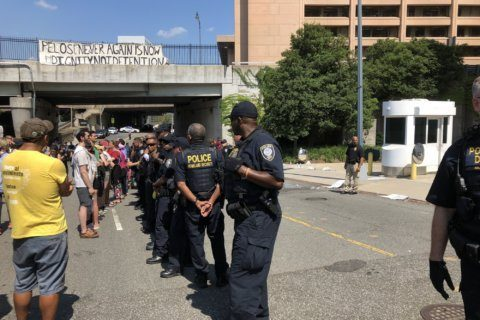 10 arrested during sit-in protest at ICE headquarters in DC