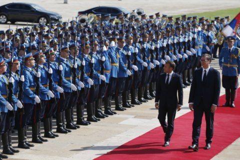 France's Macron vows to help restart Serbia-Kosovo talks