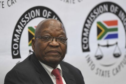 South Africa's ex-president denies corruption at inquest