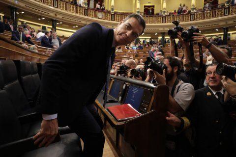 Spain's Pedro Sánchez faces difficult 1st vote to form gov't