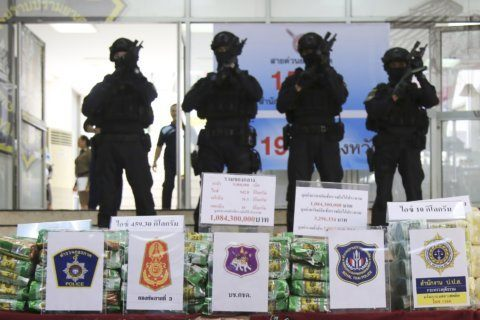 Thai police seize over a ton of crystal meth in raids