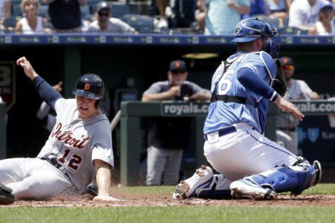 Tigers plate 7 in 3rd, beat Royals 12-8 after Bailey trade
