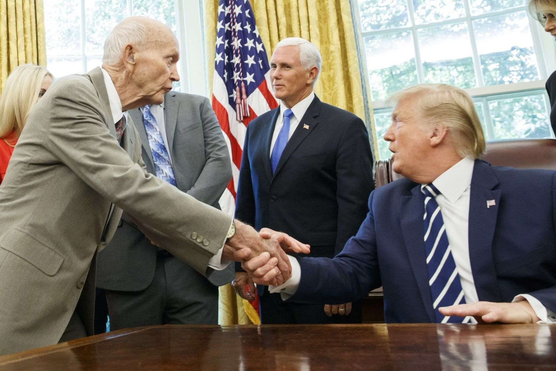 Donald Trump, Mike Pence, Michael Collins