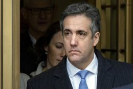 FILE - In this Dec. 12, 2018, file photo, Michael Cohen, President Donald Trump's former lawyer, leaves federal court after his sentencing in New York. Federal prosecutors have told a judge in New York Wednesday, July 17, 2019, that they have concluded their investigation into campaign finance violations committed by Cohen. U.S. District Judge William H. Pauley III said that the conclusion of the case clears the way for the public release of sealed search warrant materials dealing with the investigation. (AP Photo/Craig Ruttle, File)