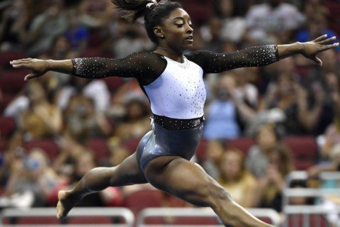 Simone Biles takes gold medal at US Classic gymnastics