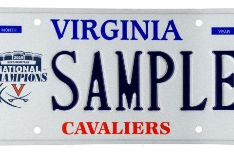 New license plate celebrates U.Va.'s national championship