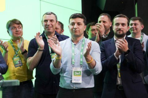 Ukrainian leader's party on track to win parliament majority