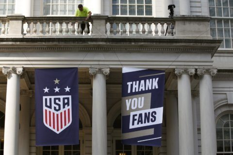PHOTOS: Fans cheer World Cup champs as leaders on and off the field