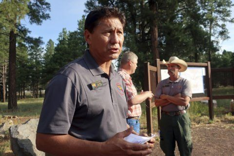 The Latest: Wildfire in northern Arizona now 12% contained