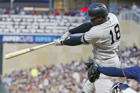 Gregorius leads another Yankee hit parade, 10-7 over Twins