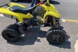 The ATV that collided with the rear end of a Prince George's County police cruiser.