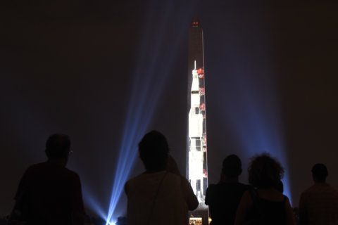 Crowds enjoying Apollo 11 events urged to 'not underestimate the heat'