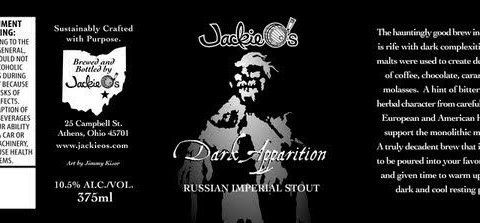 Beer of the Week: Jackie O's Dark Apparition Russian Imperial Stout