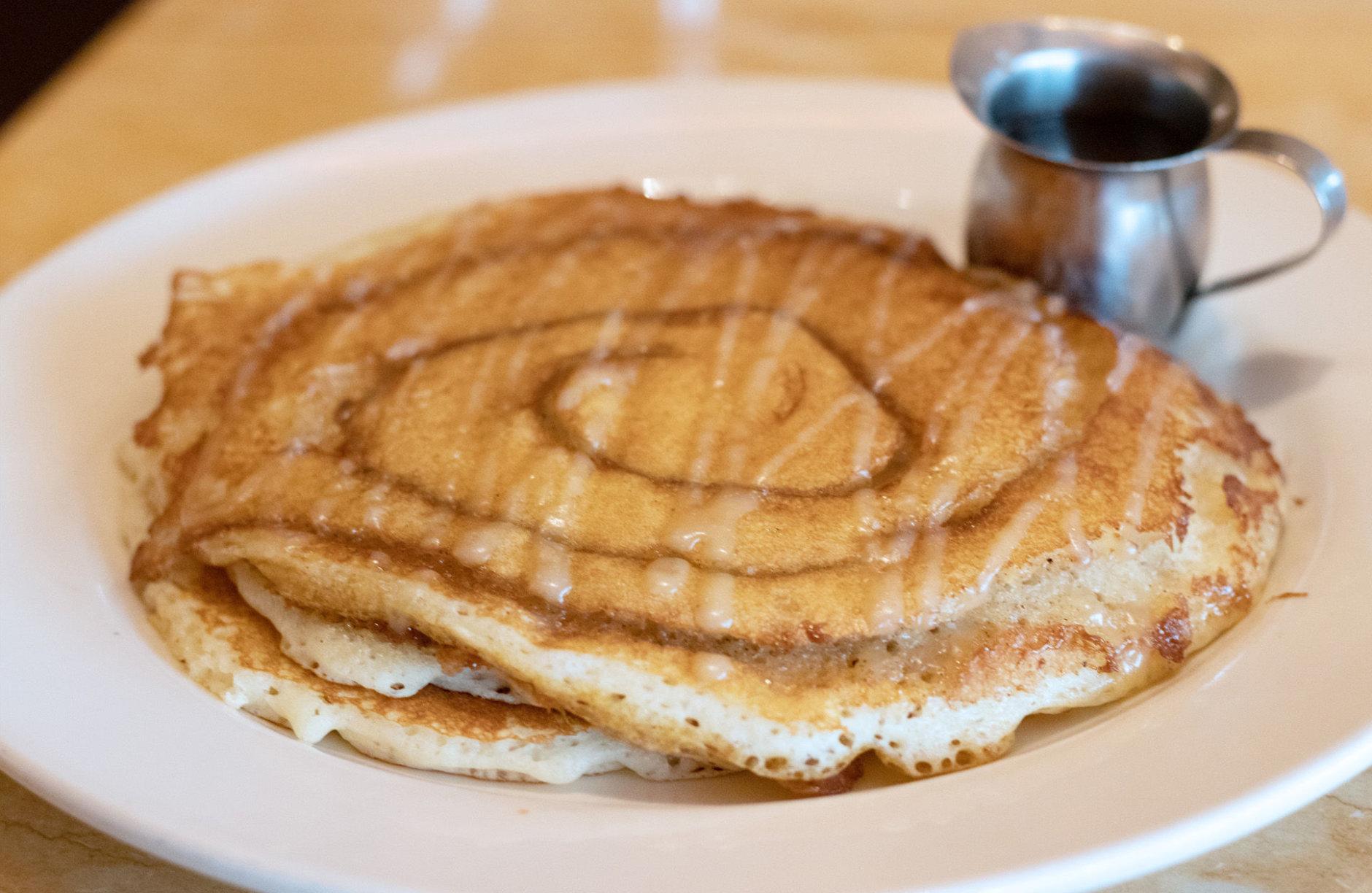 Cheesecake Factory's Cinnamon Roll Pancakes