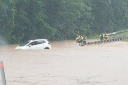 Clara Barton Parkway flooded