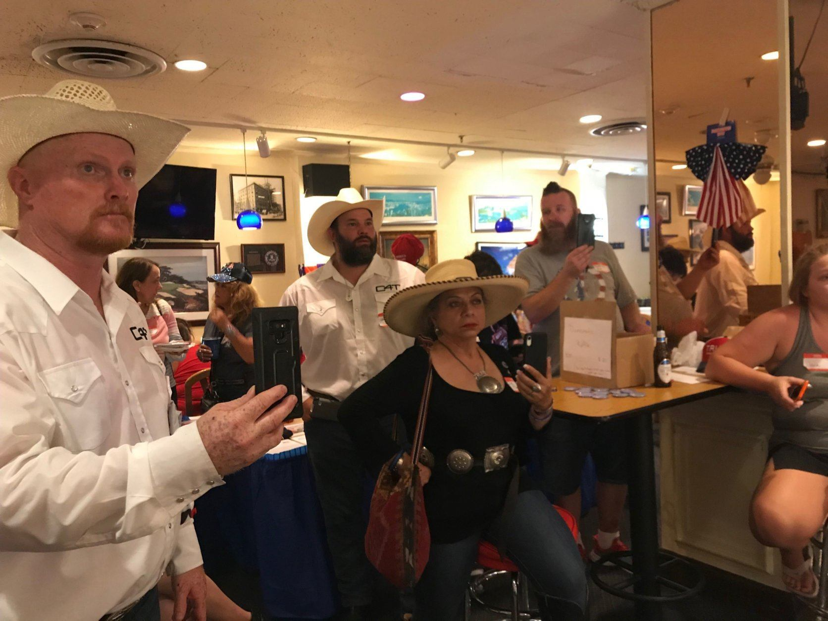 Cowboys for Trump came back to D.C. to show the president support on July 4. (WTOP/Dick Uliano)