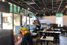 <p>People were in the restaurant, but a Montgomery County Fire and Rescue spokesman said there weren&#8217;t any injuries.</p>