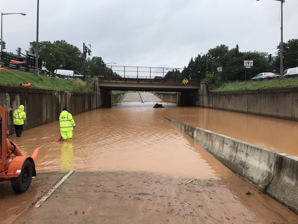 DC Water crews worked to clear a flooded underpass. (Courtesy DC Water)