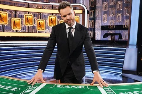 Host Joel McHale genuinely wants contestants to win money on 'Card Sharks '