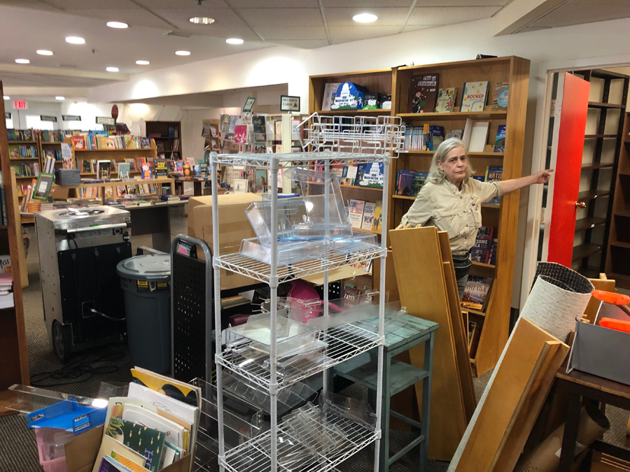 Hooray for Books in Alexandria, Virginia, lost 338 books for children in Monday's flooding. (WTOP/Kristi King)