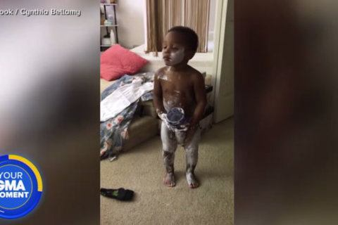 Toddler twins get into grandma's lotion and it's equal parts messy and adorable