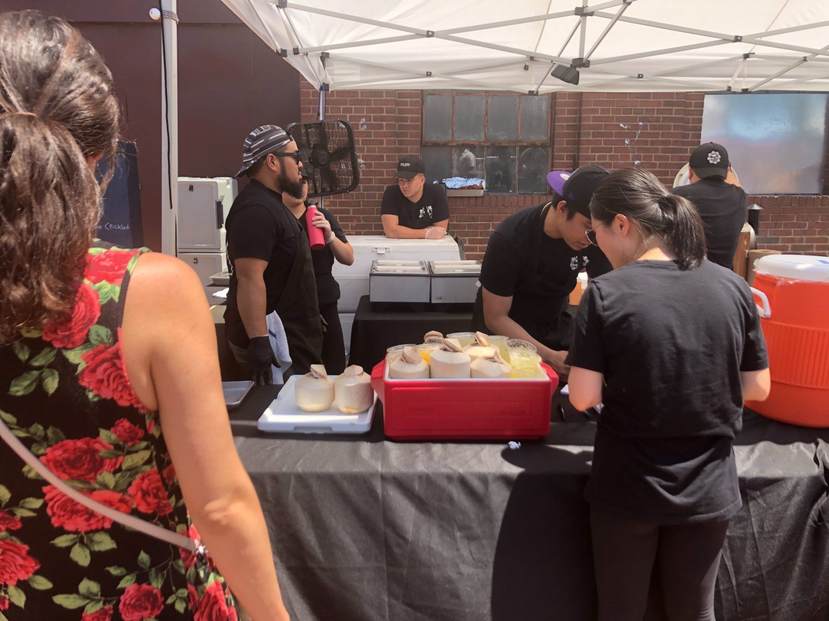 Customers line up at food festival