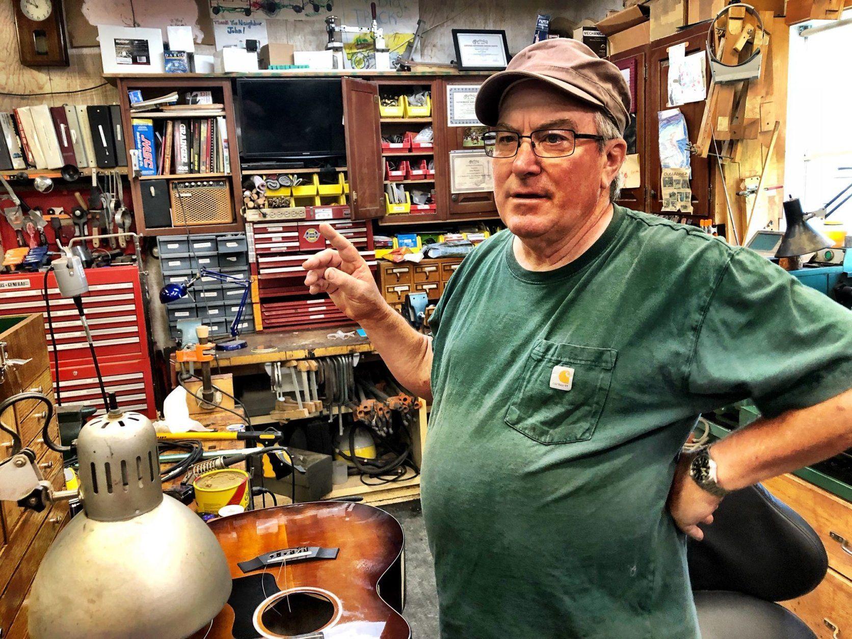 John Warden guitar builder