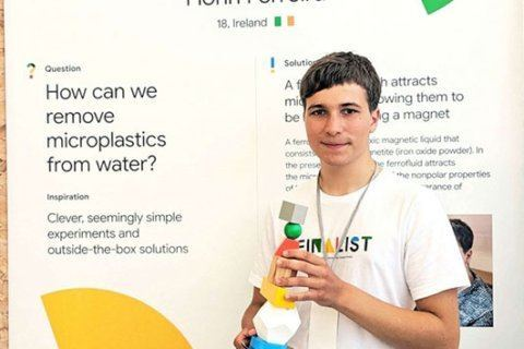 Irish teen invents method to remove microplastics from ocean