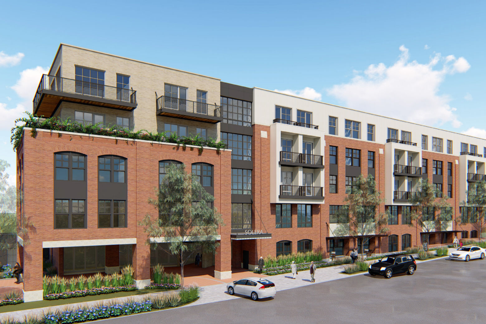 Renderings show what the Modena Reserve at Kengsington senior living community will look like. Here an view of the development from Metropolitan Avenue.