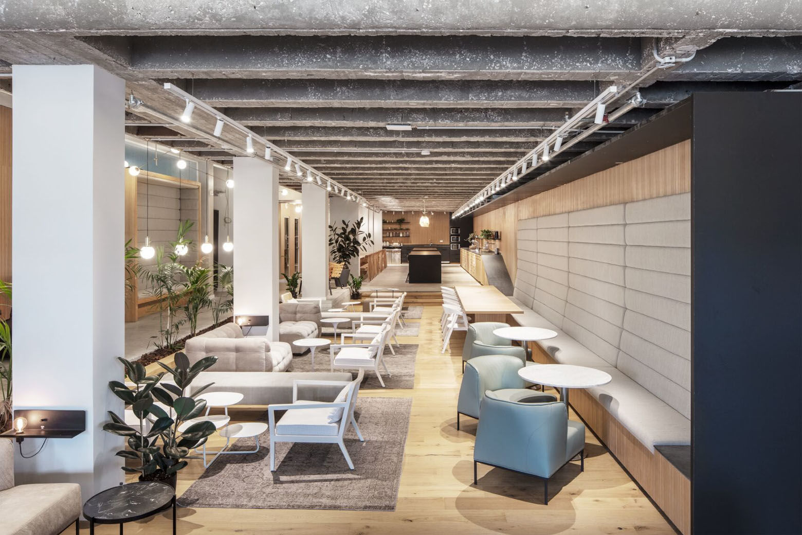 """A look inside MIXER's Tel Aviv space. The company says its coworking spaces are on par """"with a 5-star hotel experience."""""""