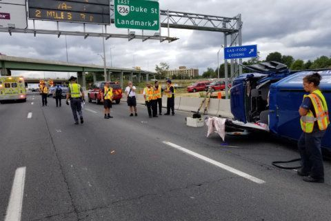 Southbound I-395 in Alexandria reopens after crash