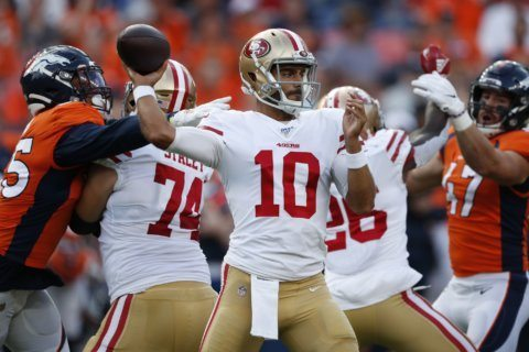 49ers QB Garoppolo looks to bounce back from rough week