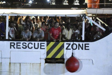 The Latest: NGO: migrants need access to safe Europe ports