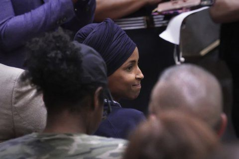 The Latest: Omar calls on colleagues to visit Israel