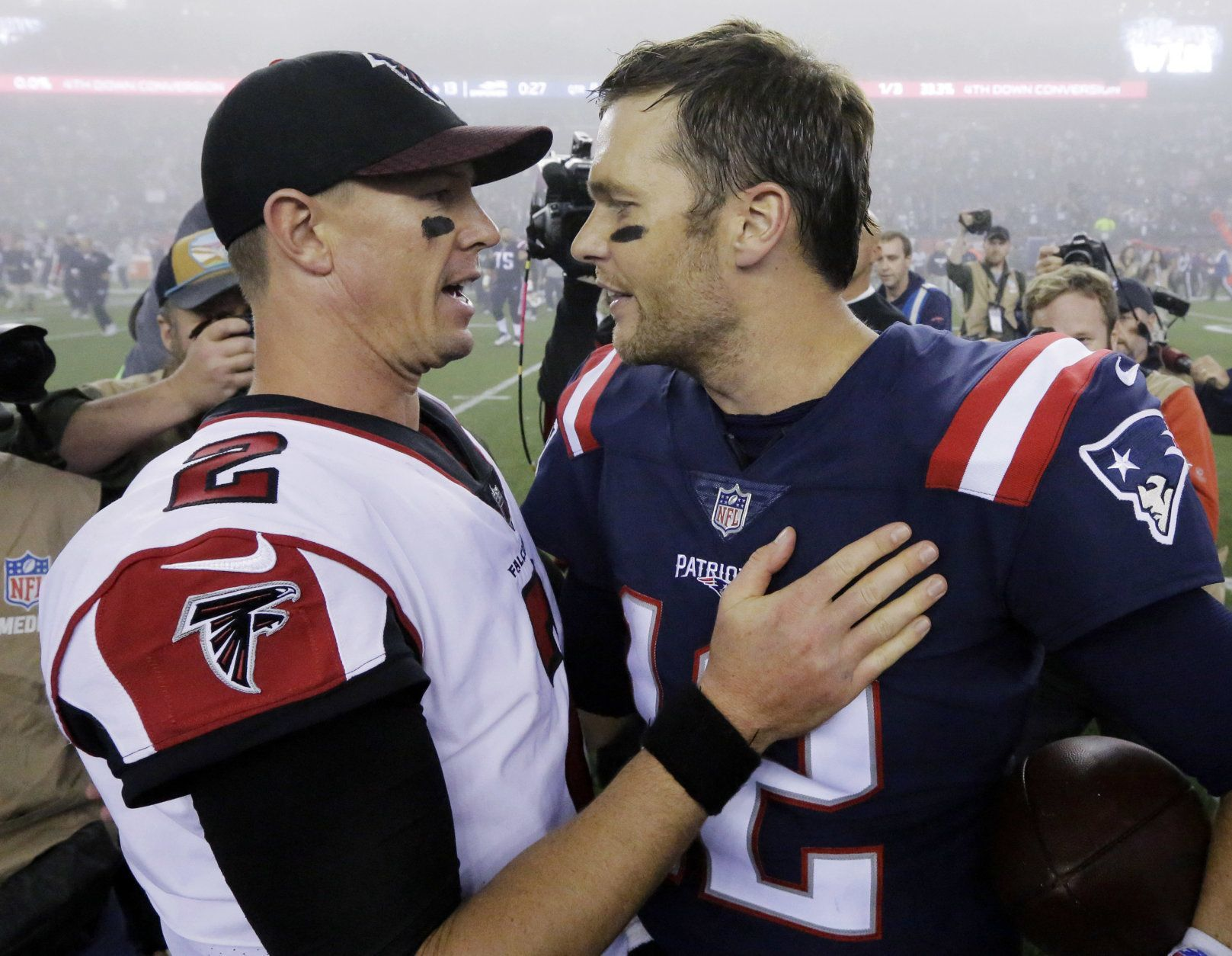 <p><strong>Super Bowl LIV</strong></p> <p>Falcons over Patriots</p>