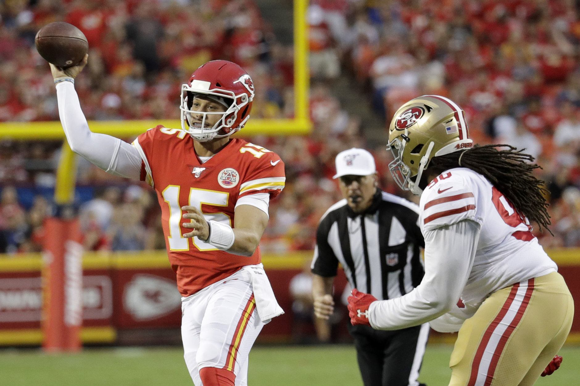 """<p><b>Patrick Mahomes has to slow down, right? <em>Right?!</em></b></p> <p>Every QB who has thrown 45 or more TDs in a season has seen that number dip the following year, and Drew Brees is the only one to even top 40 as an encore. Mahomes can <a href=""""https://www.facebook.com/watch/?v=460598814733182"""" target=""""_blank"""" rel=""""noopener noreferrer"""" data-saferedirecturl=""""https://www.google.com/url?q=https://www.facebook.com/watch/?v%3D460598814733182&amp;source=gmail&amp;ust=1567097099847000&amp;usg=AFQjCNF0cVYOo6OhcoerOK1e9iwY34ag5g"""">literally throw the ball out of the stadium</a>, but can he direct it to open targets in historic fashion again?</p>"""