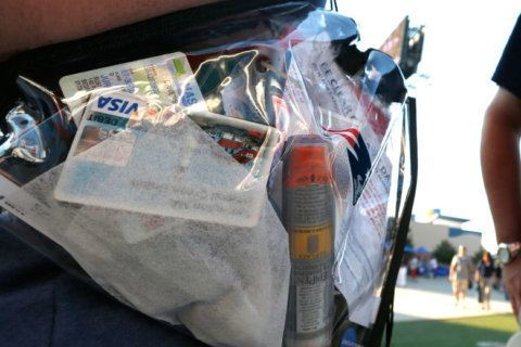 Navy adopts new clear bag policy for sporting events