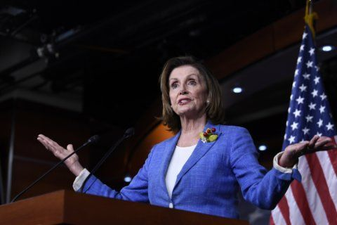 AP Interview: Pelosi assails 'weakness' of Trump, Netanyahu