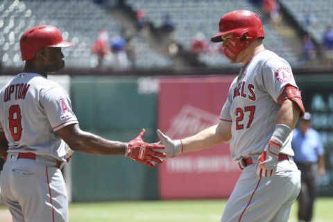 Trout, Heaney with career highs in Angels' 5-1 win at Texas