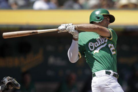 Chapman, Canha back Bassitt in A's 8-4 win over Astros