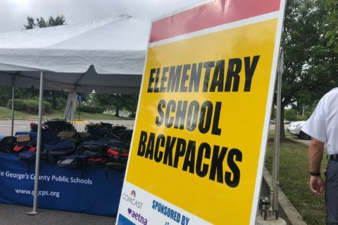 Hundreds show up for backpack drive-thru in Prince George's Co.