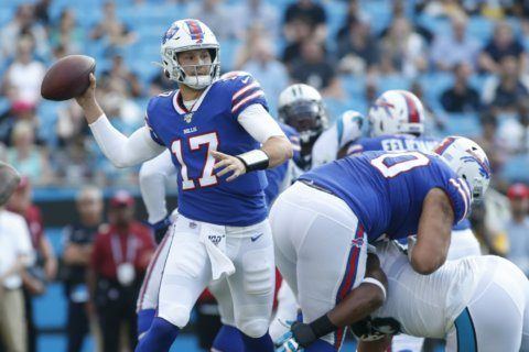 Allen, Johnson lead Bills past Newton-less Panthers 27-14