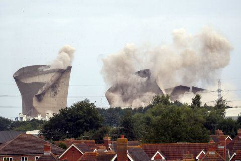 Demolition levels UK power plant once named a top eyesore