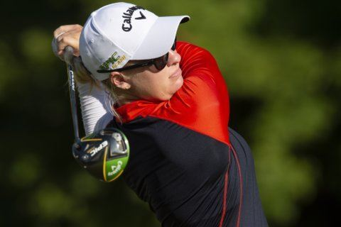 Larsen leads CP Women's Open after 2nd straight 66