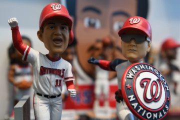 Tour WTOP Sports' new wall of bobbleheads