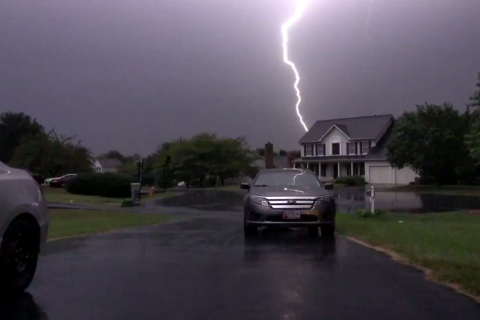 WATCH: Lightning captured around region