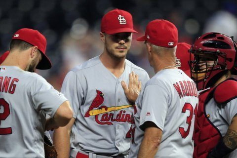 Hudson solid, Cardinals crack Keller in 6-0 rout of Royals