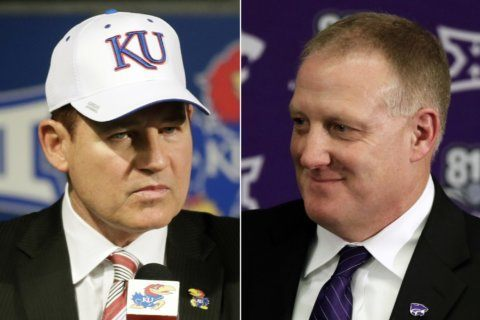 New coaches at Kansas, K-State are studies in contrast